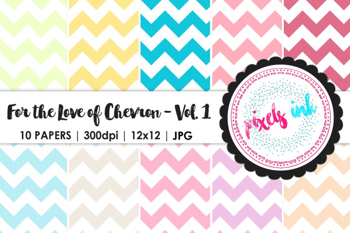 Pastel Chevron Digital Paper-Seamless