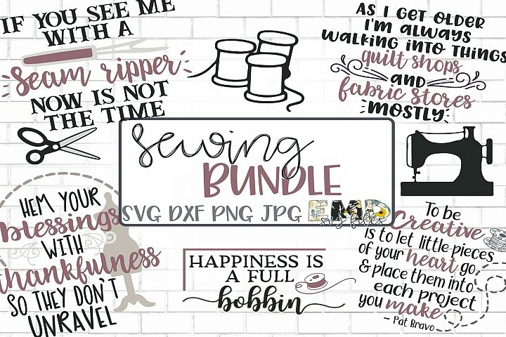 Sewing SVG Bundle, Creative SVG Files, Fabric Svg, Quilting