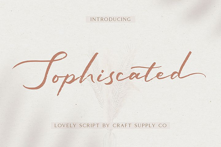 Sophiscated - A Lovely Script Font