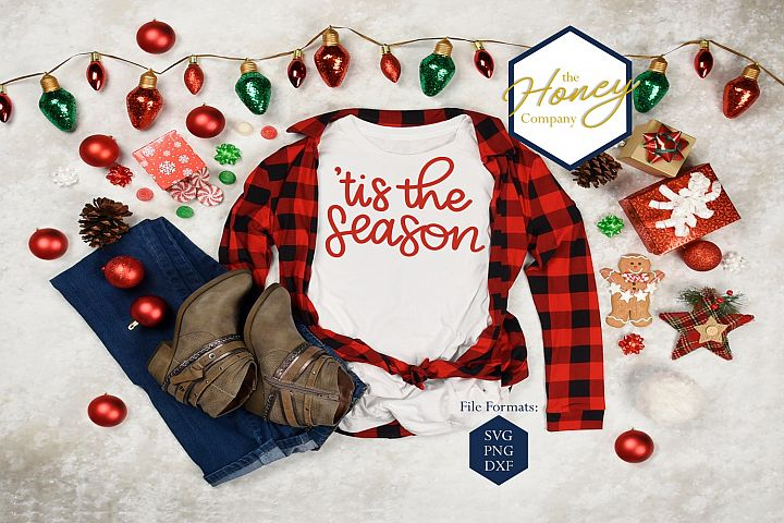 Tis The Season Christmas SVG PNG DXF Cliapart