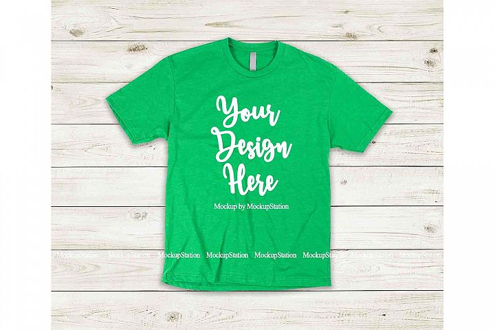 Green Shirt Mock Up, Next Level 6210 Tshirt Mockup Display