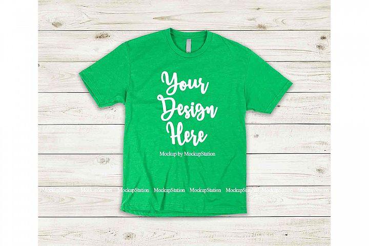 Green Shirt Mock Up, Next Level 6210 Tshirt Mockup Display