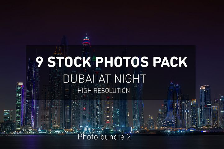 Dubai Night Photo Pack