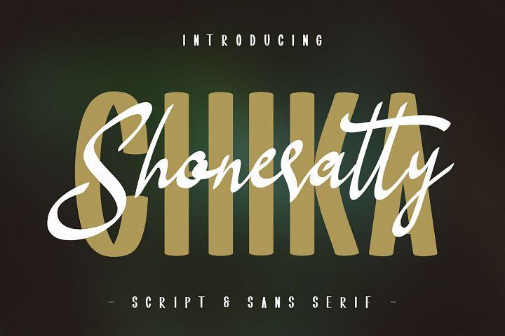 Shoneratty Chika Typeface