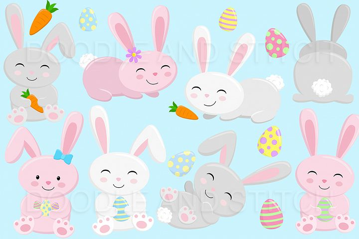 Cute Easter Bunny Clipart Designs