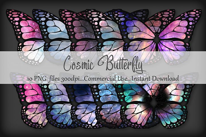 Cosmic Butterfly PNG