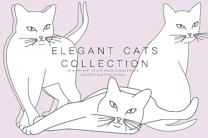 Elegant cats collection
