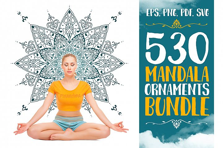 530 Vector Mandala Ornaments Bundle