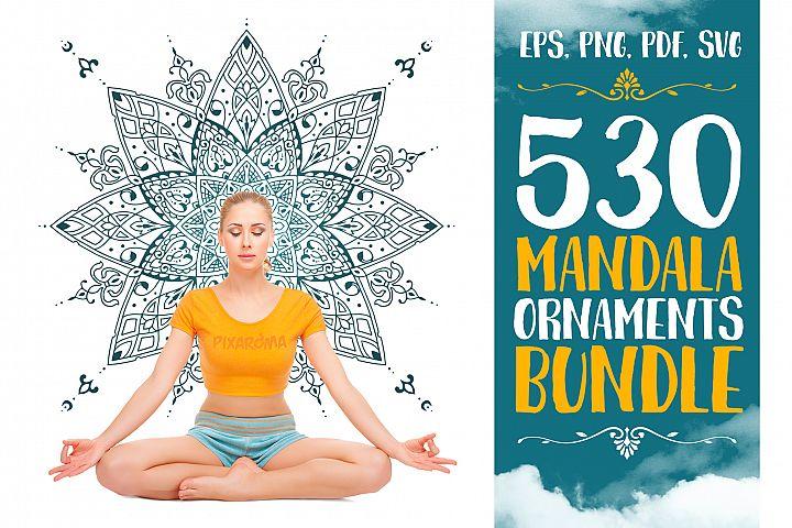 530 Vector Mandala Ornaments Bundle