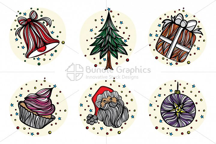Christmas Celebration - Vector Graphic Set