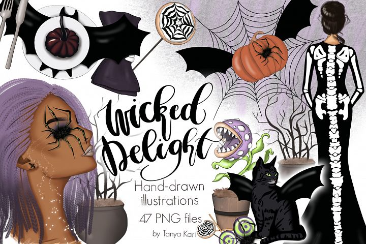 Wicked Delight Clipart & Patterns