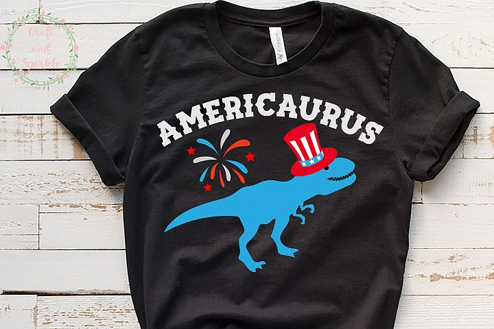 Americaurus - Funny 4th of July t-rex svg
