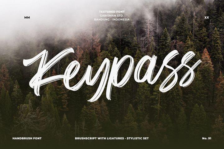 Keypass - Handbrush Font