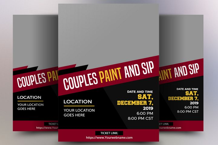 Couple Paint and Sip Flyer
