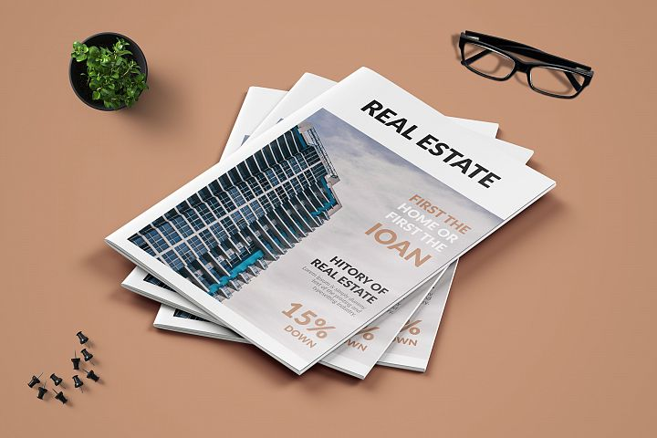 Real Estate Minimal Magazine Template