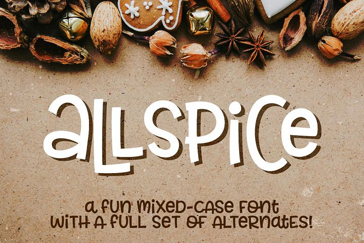 Allspice - a fun mixed-case font!