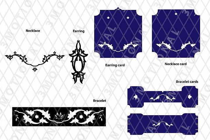 Eastern style acrylic leather wood jewelry kit 08