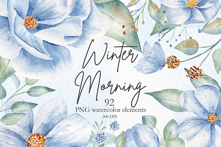 Winter Morning Watercolor Set