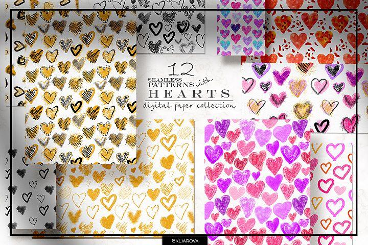 Stylish Hearts. 12 patterns