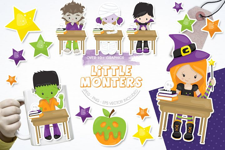 Little Monster graphic and illustrations