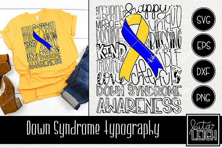 Down syndrome Awareness Typography