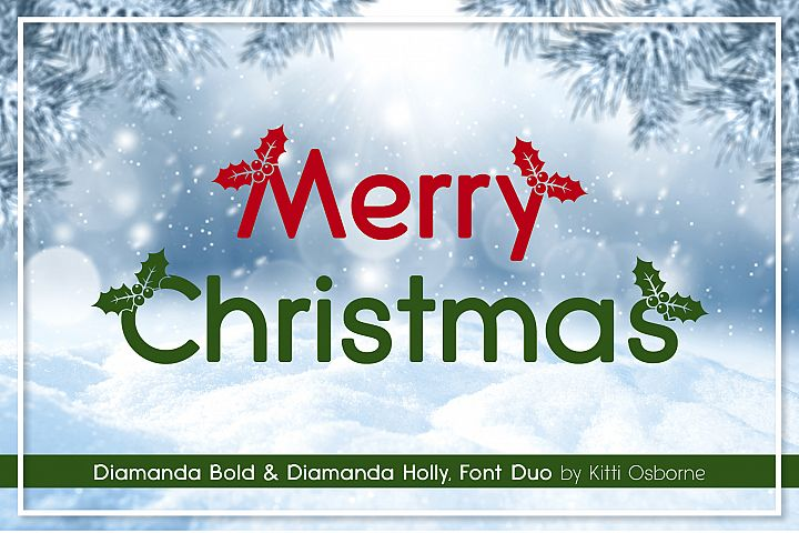 Diamanda Holly Duo Font