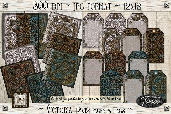Victoria Steampunk Lace Doily Paper/Tag Collection 102618