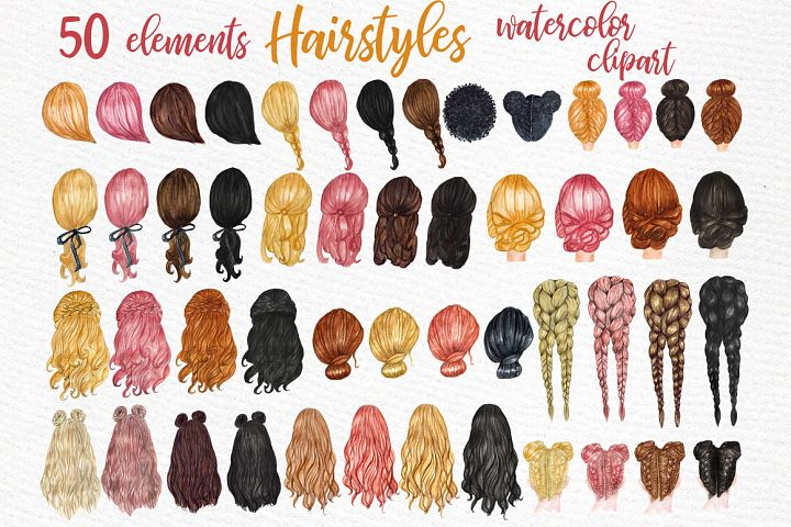 Hairstyles clipart Custom hairstyles Long hair Girls hair