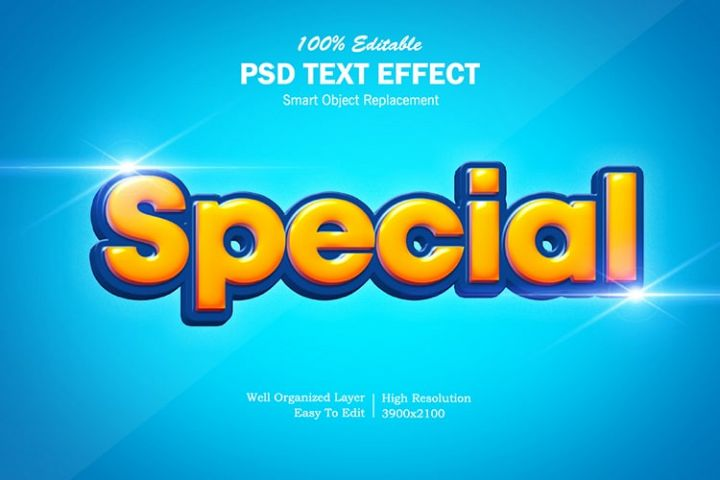 Special 3D Text Effects