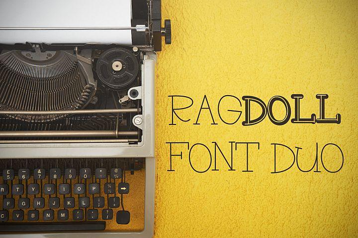 RAGDOLL Font Duo - Stamp Typewriter Font