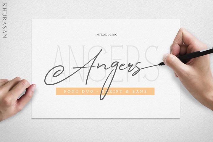 Angers Script Font Duo