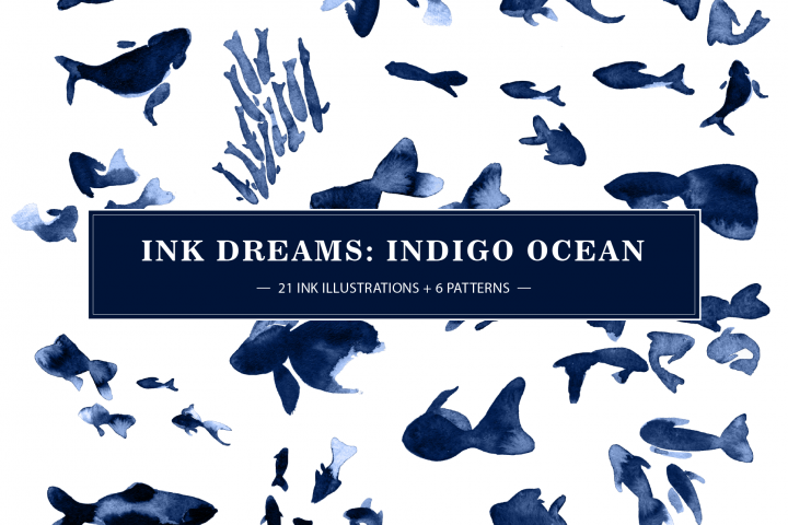 INK DREAMS: INDIGO OCEAN