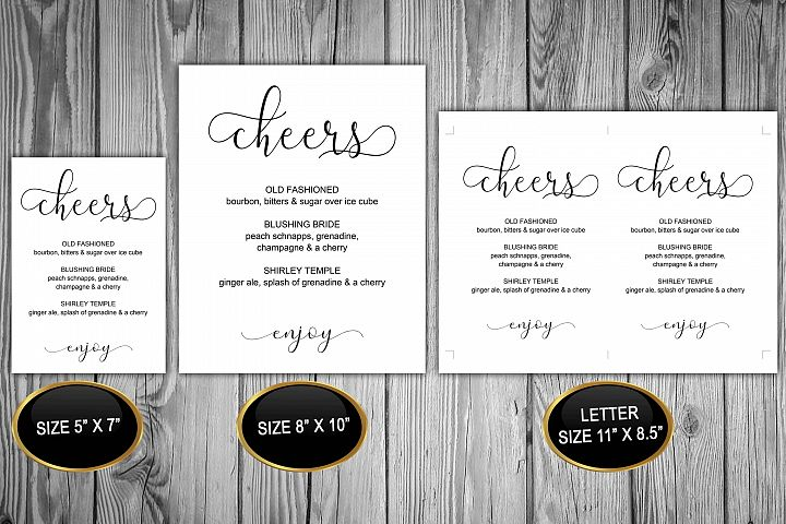 Printable Christmas Bar Sign Cheers Template, DAD_22