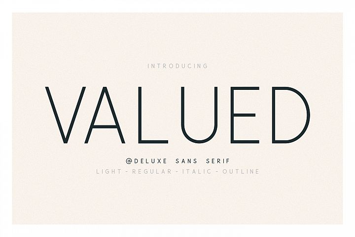 Valued - A Deluxu Sans Serif Family