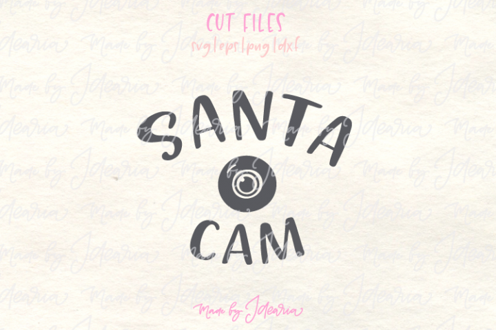 Santa Cam Svg or Santa Camera Svg as Christmas Ornament Svg