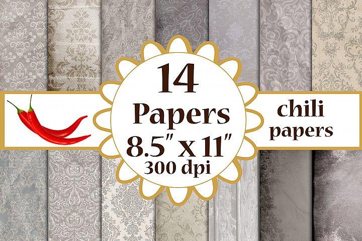Grey Digital Paper, Digital Paper Pack, Grey Paper Pack A4