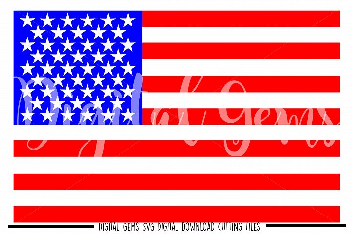 American Flag SVG / PNG / EPS / DXF files