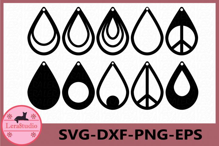 Earrings SVG, Teardrop Earrings, Tear Drop Svg