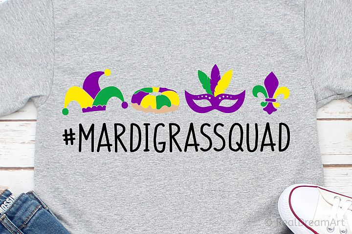 Mardi Gras Squad SVG, DXF, PNG, EPS