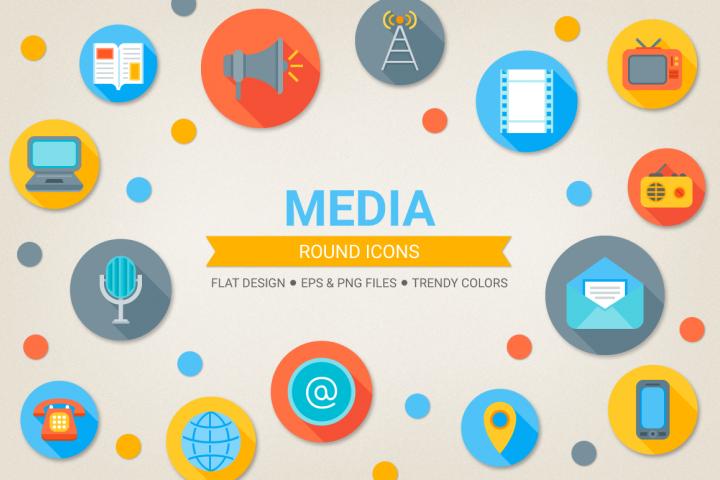 Round Media Icons