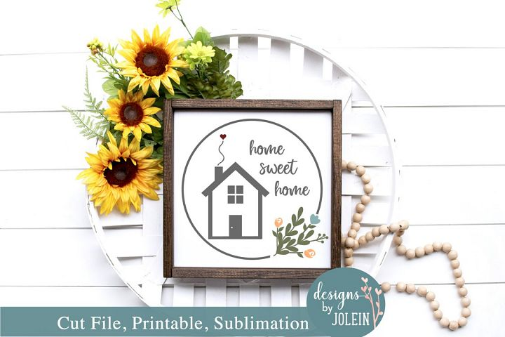 Home sweet Home Wreath SVG, Sublimation, Printable!