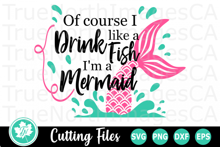 Drink like a Fish - A Wine Tumbler SVG Cut File