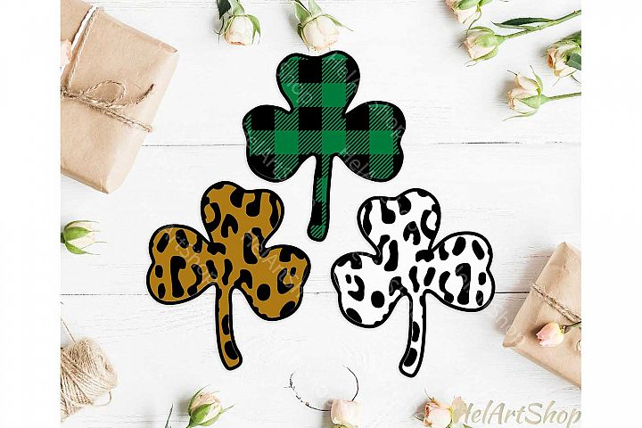 St Patricks day svg, shamrock svg, Leopard print , Plaid svg