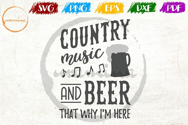 Country Music And Beer Kitchen SVG PDF PNG