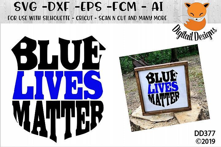 Police Badge Blue Lives Matter SVG