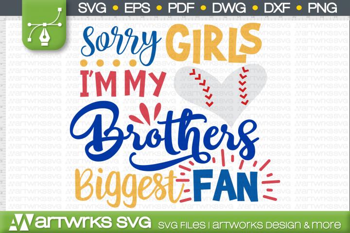 Biggest fan SVG files for Cricut | Baseball sister