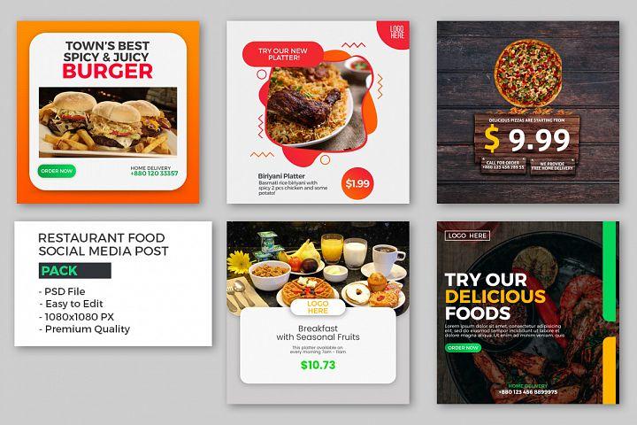 Food Social Media Post Pack