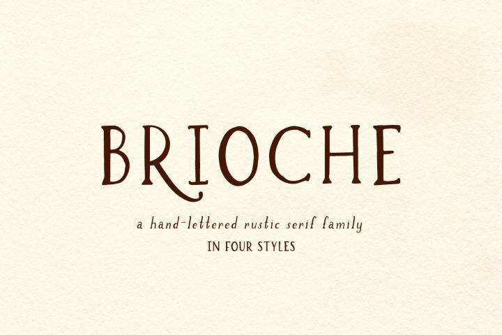 Brioche Rustic Serif Font Family