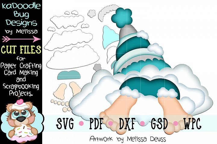 Bottoms Up Snow Gnome Cut File - SVG PDF DXF GSD WPC