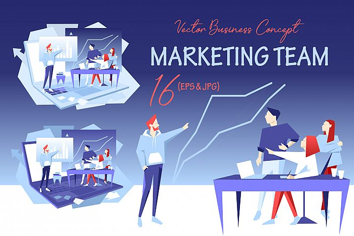 Marketing team Vector Design Se